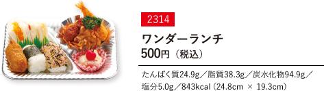 ワンダーランチ 500円(税込)