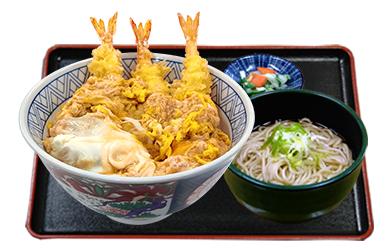 名古屋海老天丼ミニそばセット